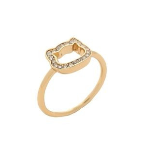 Karl Lagerfeld Open Pave Choupette Ring